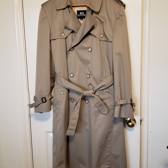 Stafford Men's Classic Trench Coat
